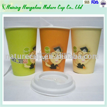 Custom Request Printed Single Wall Disposable Paper Cup hot coffee cup 6-16oz with lids custom coffee cup sleeves