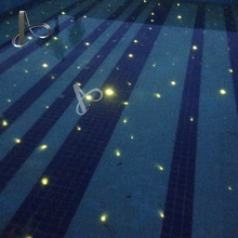 underwater optic fiber cable light with color changing for swimming pool