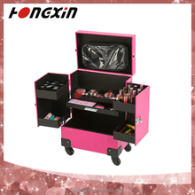 cheap trolley professional train smart collection perfume makeup case with drawers