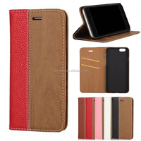 wood pattern flip leather phone case cover with card slot for Samsung Galaxy Note C S A J E ON edge mini plus 9 8 7 6 5 4 3 2