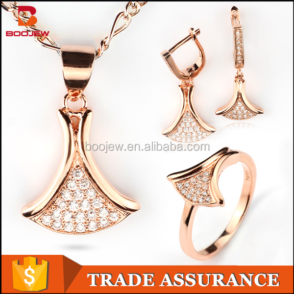 Clothing factory direct wholesale 925 silver plated rose gold jewelry set jewelry good price