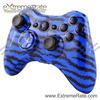 Water Transfer Print Blue Tiger Zebra Stripes Wireless Housing For XBOX 360 XBOX360 Controller Shell With Full Button Mod Kits