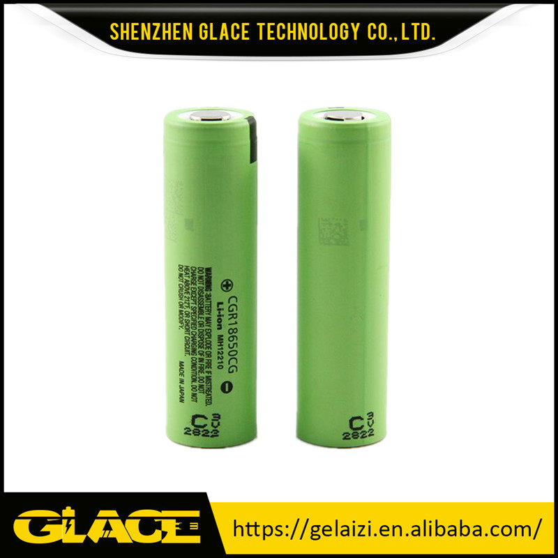 Original CGR18650CG li-ion battery 10A18650 rechargeable battery 2200mah CGR18650CG 3.7V battery with button top for flashlights