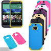 Gold case for htc one 2 m8,plastic silicone combo armor case cover for htc