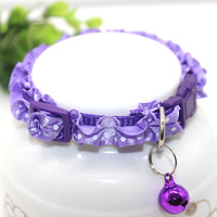 [PAC028] Pet accessories colorful lovely cat collar with bell,little pet beautiful collar,12pcs per set
