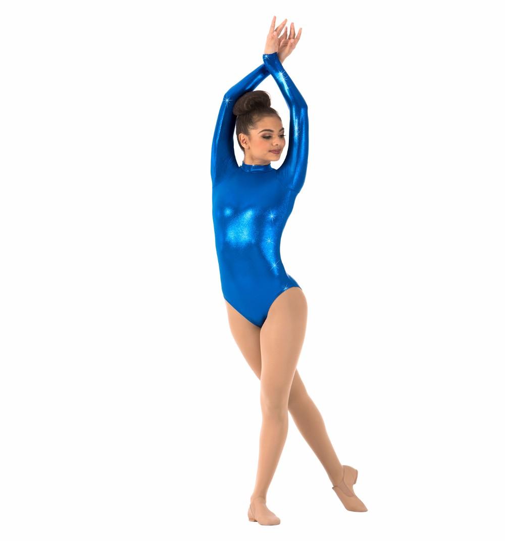 Women\`s Long Sleeve Gymnastics Leotards (7)