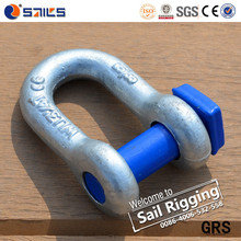 Galvanized Square Chain Shackle D Shackle Spraying Plastic Pin Shackle