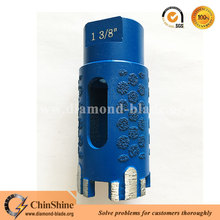 Laser welding dry use core diamond drill bits for granite with protect teeth