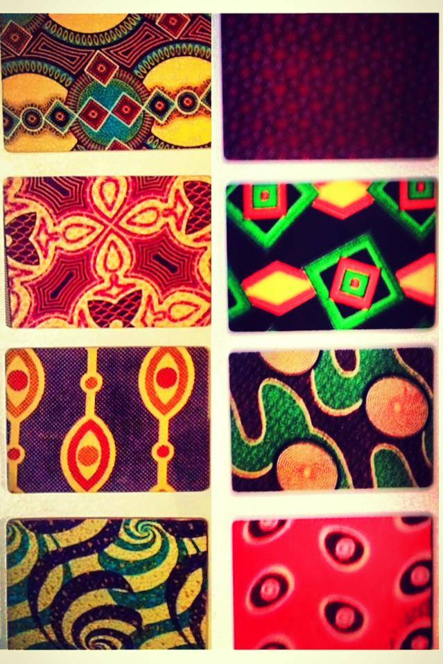 African Wax Print Table Mats