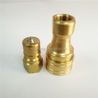 Hydraulic brass quick coupling flexible hose connectors