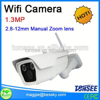 960P CMOS Waterproof Wifi IP camera bullet camera with 60m IR range,outdoor ip cam