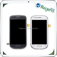 Wholesale repair parts cell phone touch screen for samsung galaxy s3 mini i8190 lcd digitizer touch screen with frame