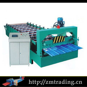 galvanized color steel corrugated roofing sheet making machine