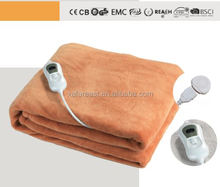 CE GS Cosy Soft Fleece 120W 3 Temperature Auto Switch Off Coral Fleece Heating Blanket for Over Use