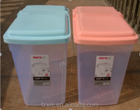 plastic household waterproof rice container bin with wheels
