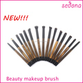Sedona retro bamboo makeup brushes,taklon hair super soft,makeup very easy and ECO material