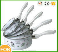 White color with printing ,Enamel Cookware