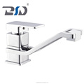 Golden plated modern design high neck single lever brass bathroom basin faucet, washbasin taps OEM to Europe