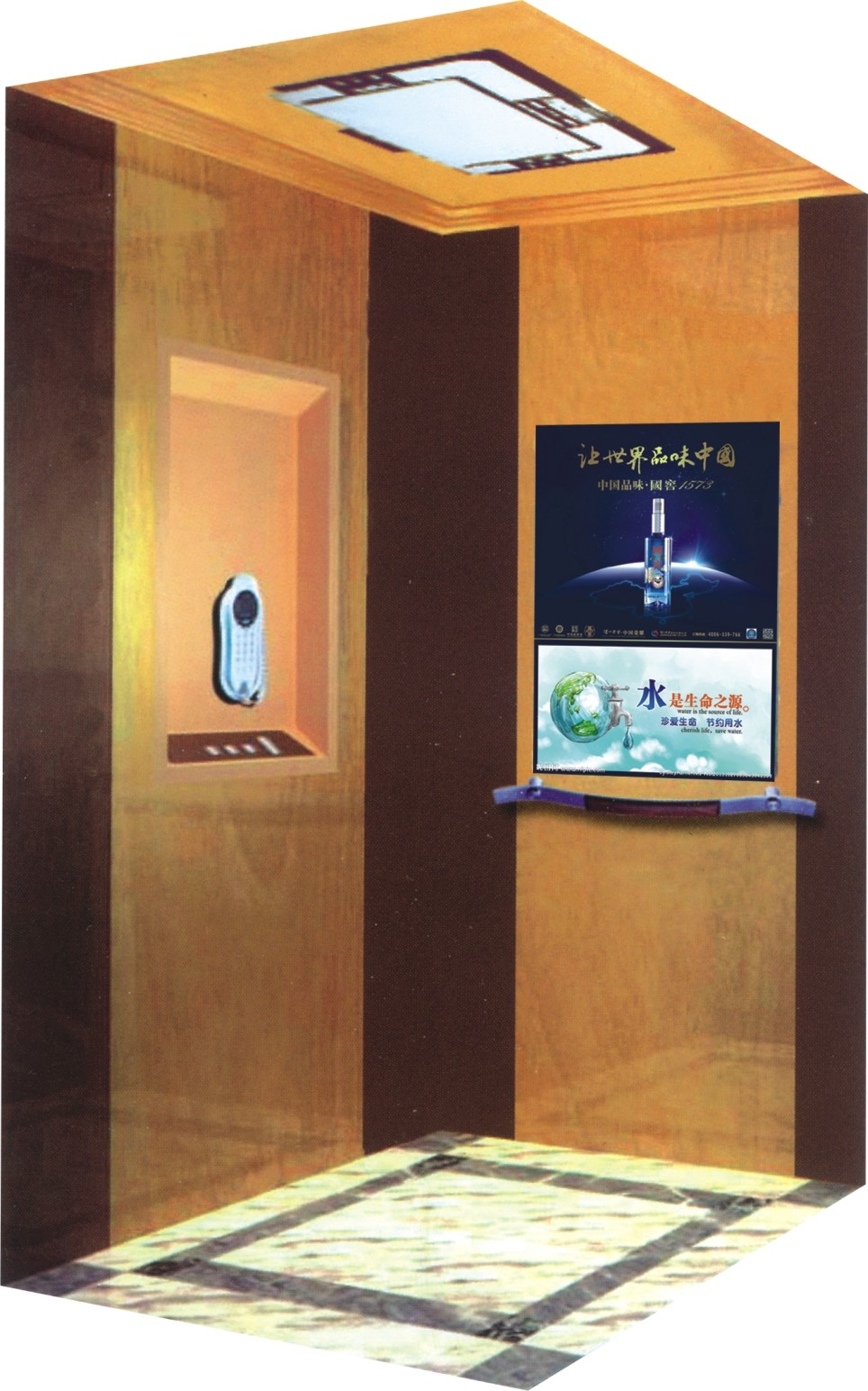Size for small elevator size cheap price 2 person indoor for Indoor elevator