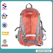 With bottle holder travel backpack bag From China bags factories 40L Nylon materials travel bag