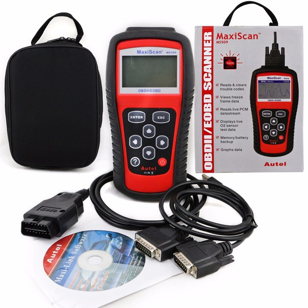 Hot new OBDII OBD2 Auto Electronics Car Diagnostic Scanner Code Reader Same with MS509 for US/Asian/European vehicles