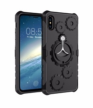 Plant direct 3 en 1 ring armor bracket for iphone 6 7plus, new design band jacket, for iPhone X 8 plus strong case