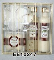 Vanilla Home Spa Set with shower gel & body lotion & bath fizzer