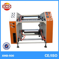 XHD Semi-automatic PE film cutting and rewinding machine plastic film slitter rewinder