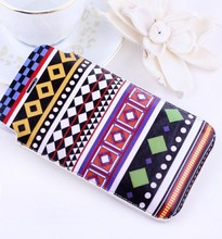 Book style high quality pu leather pouch case for iphone 5s carrying case sewing designed case