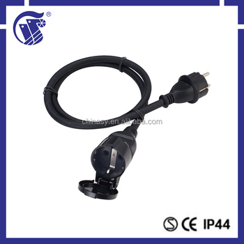 industrial equippment CEE male connector type retractable electrical extension cord