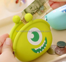 Funny creative cheap kids silicone coin wallets for kids