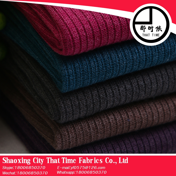 new products looking for distributor That Time polyester spandex knitted rib fabric
