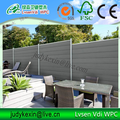 Garden WPC (Water-proof)wood composite WPC fence aluminum post from Qingdao