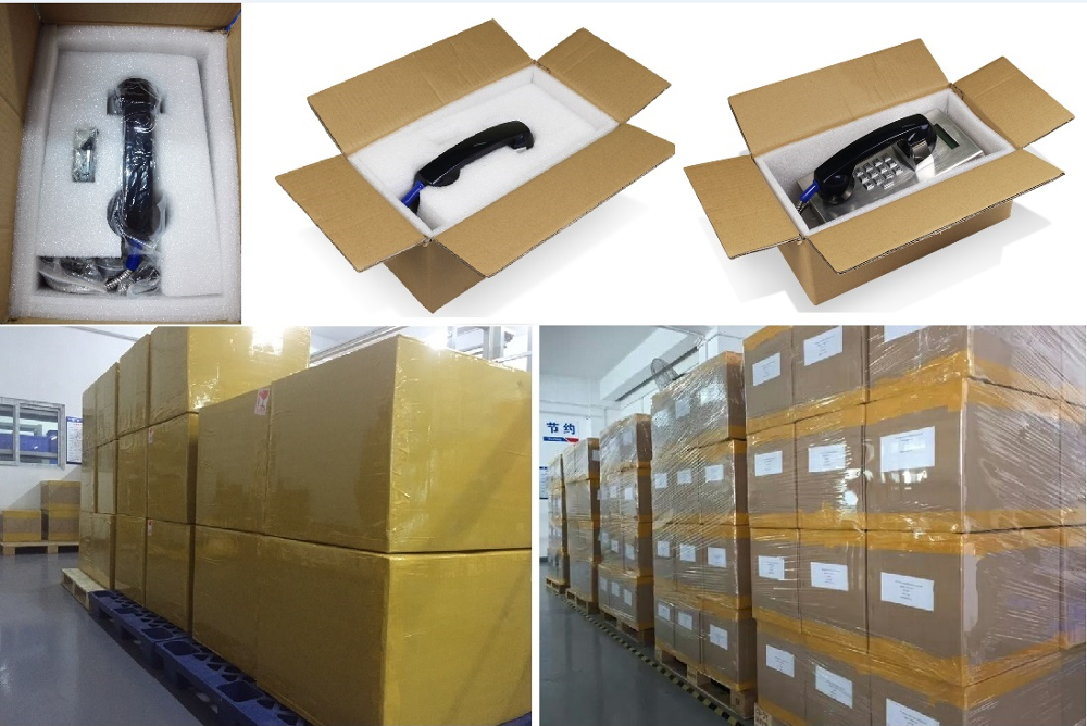 Vandal Resistant Prison Telephones, SIP/VoIP Phone with Volume Control Button, Analog Bank Telephone