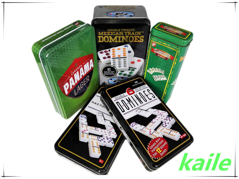 Domino set With Iron box /Tin box