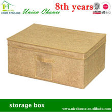 linen polyester fabric storage box with lids