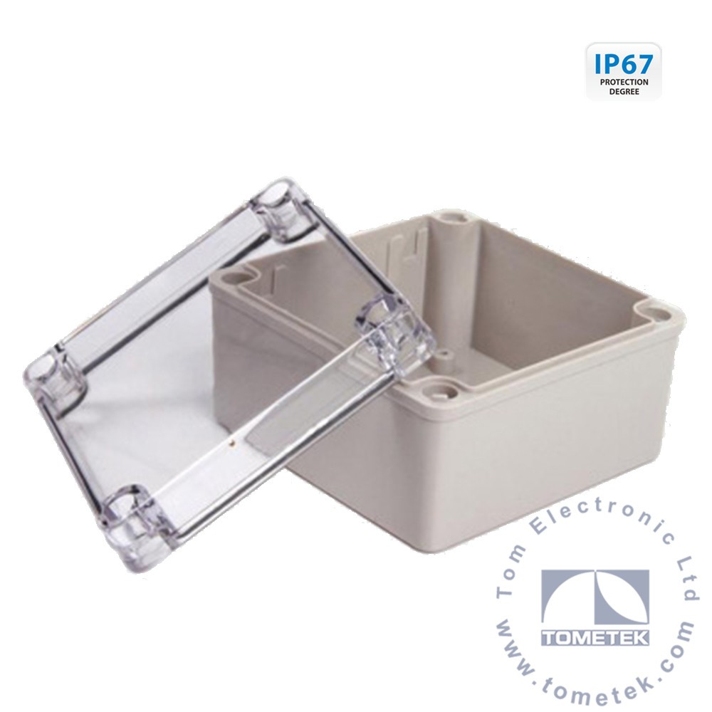 100*100*75mm clear lid meter box abs injection mold case