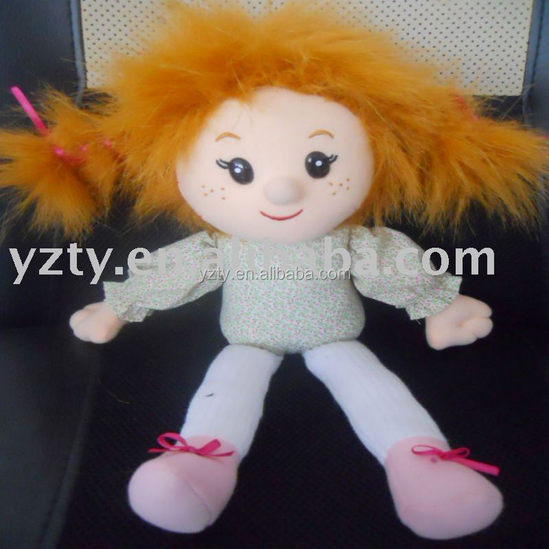 cute design 25cm plush toys doll /singing girl doll with musical chip