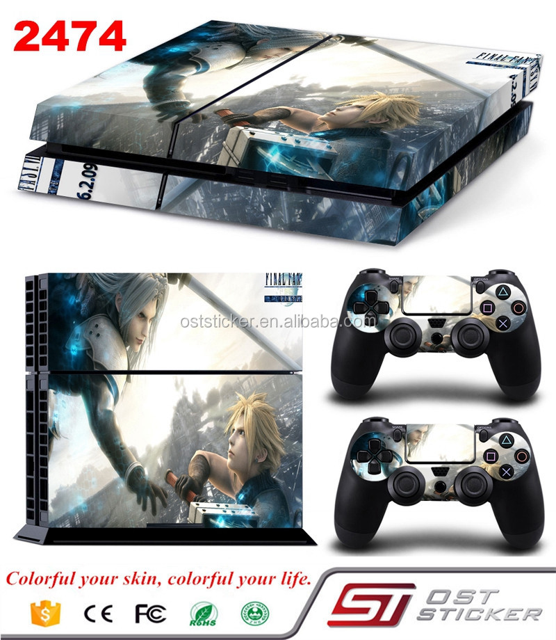 Manufacturer selling video game skin sticker cover for ps4 vinyl pvc sticker
