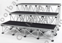 Lates style easy install DIY aluminum portable truss stage for exhibition