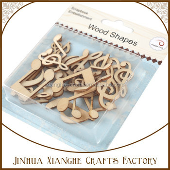 China unfinished music note wood shapes art minds wood for Art minds wood crafts