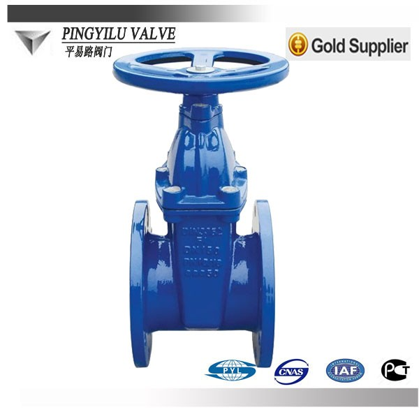 manual slide soft seal gate valve parts and picture