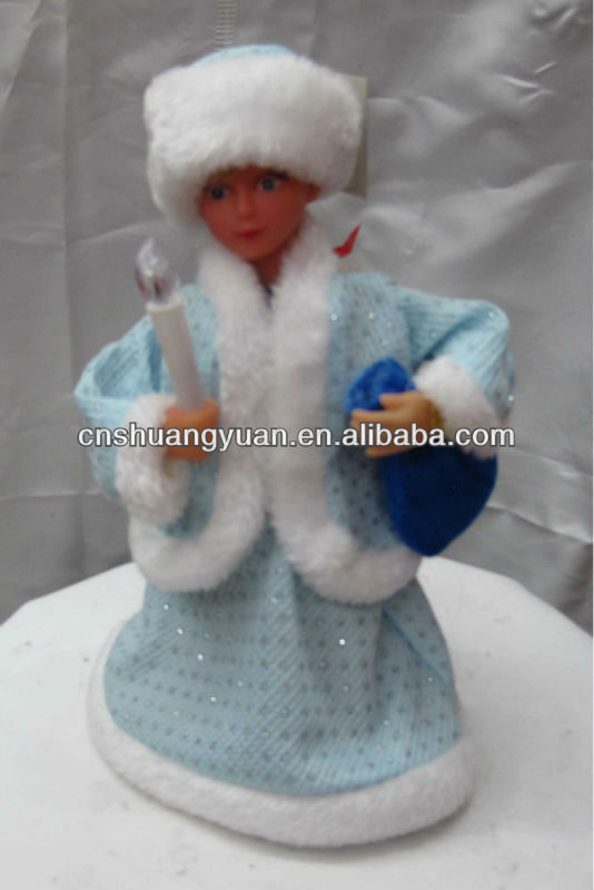 Promotional christmas singing and dancing santa /Russia Style Christmas toys