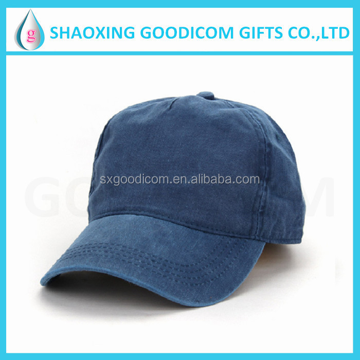 Mens Pigment Dyed Washed Cotton Cap Washed Baseball Cap