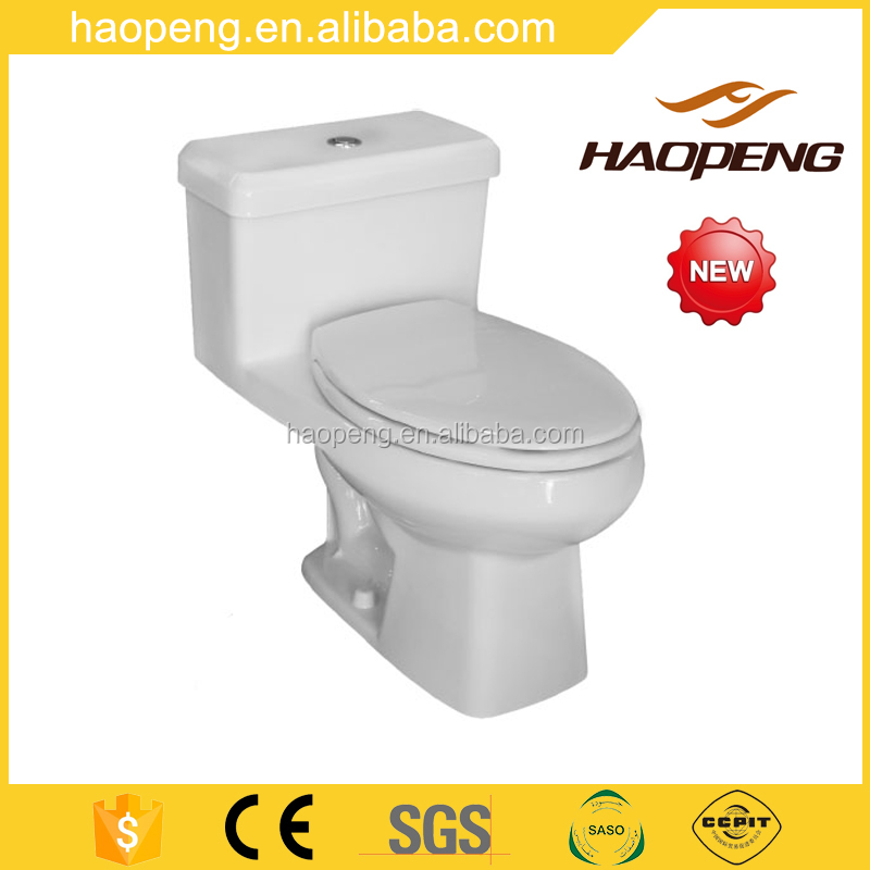Hot sell Mexico Ceramic One Piece Siphon Jet Flushing Toilet
