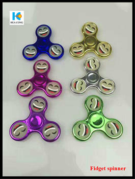 2017 hot selling Deep Groove Ball colorful and plastic hand Fidget Spinner from directly factory