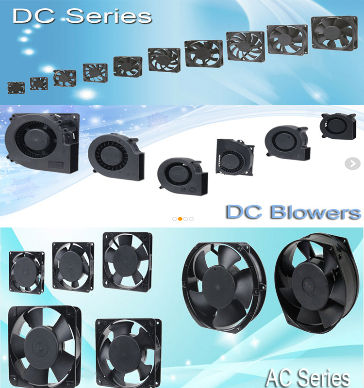 12v dc electric different size black axial dc fan