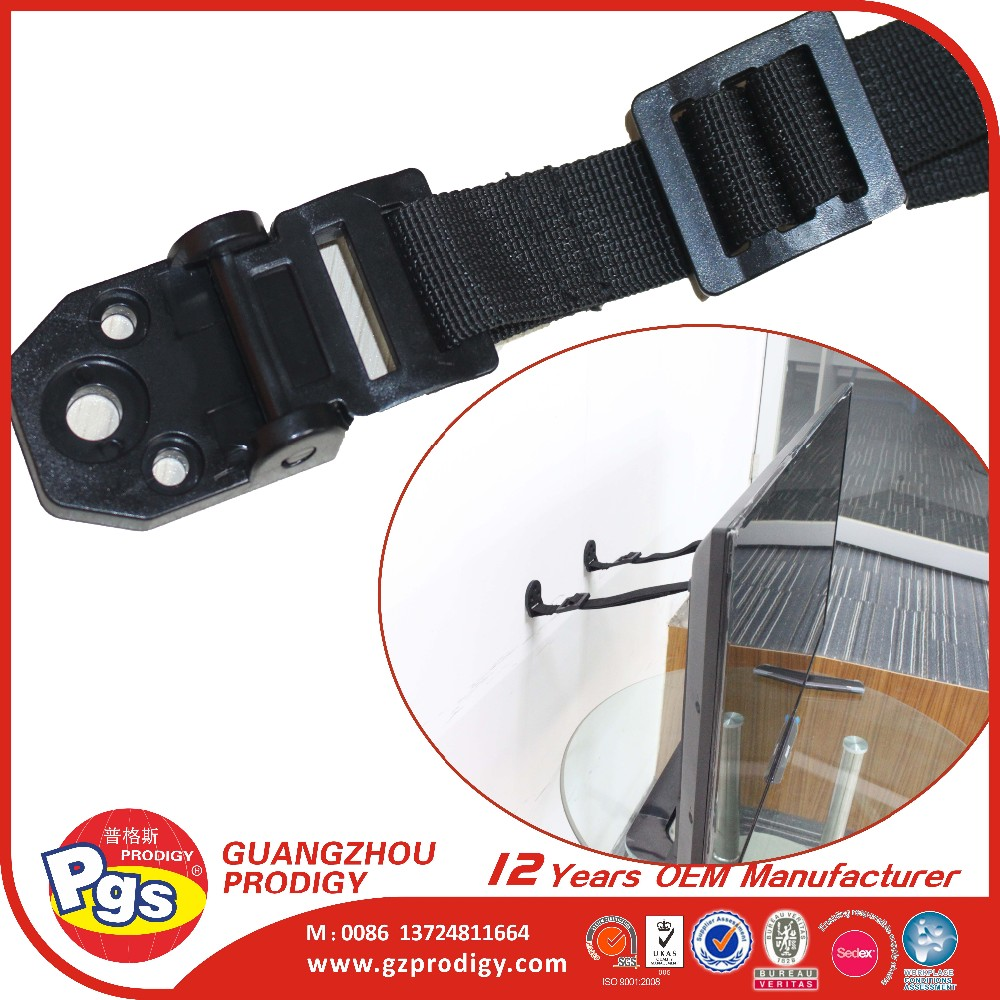 Heavy appliance Plastic anti-tip tv strap safety anti tip tv strap