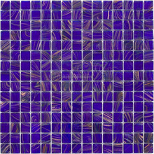 China hot melt glass mosaic tiles cobalt blue swimming pool tiles interior mosaics