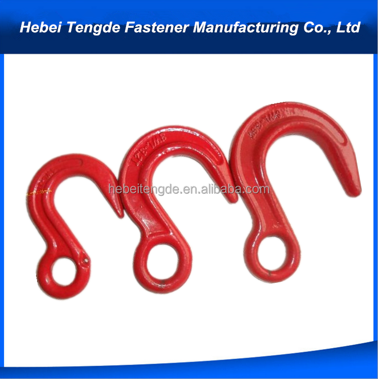 wholesale cast iron big openning lifting eye hook heavy duty lifting hooks safety hook